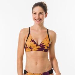 Haut de maillot de bain brassière de surf femme réglable dos BEA HISHO MUSTARD