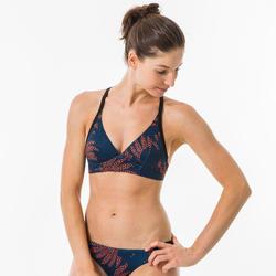 BEA HISHO ESPACE Women's swimsuit crop top with adjustable back.