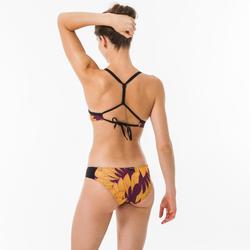 女款低腰衝浪泳褲NIKI-飛翔款/芥末黃色