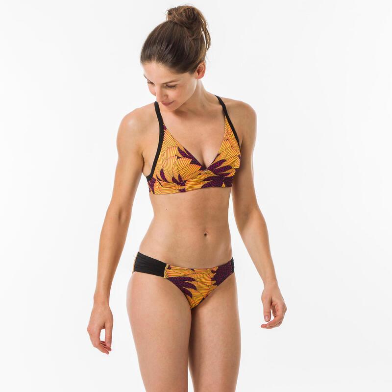 Braguita Bikini Surf Mujer Olaian Estampada Talle Bajo Niki Amarillo