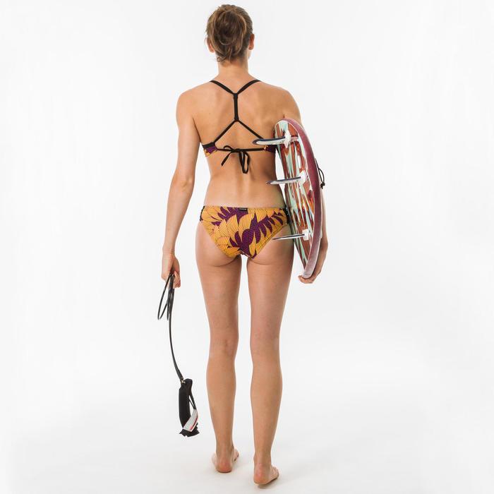 Bikinitop voor surfen Bea Hisho Mustard dubbele rugverstelling