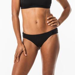Bikinibroekje voor surfen Niki gefronst opzij zwart