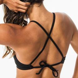 Dames Bikini Top High neck met pads Andrea zwart