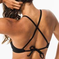 Top Bikini Surf Olaian Mujer Andrea Negro