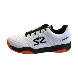 Zapatillas Squash Salming Hawk Court Adulto Blanco/Negro/Rojo