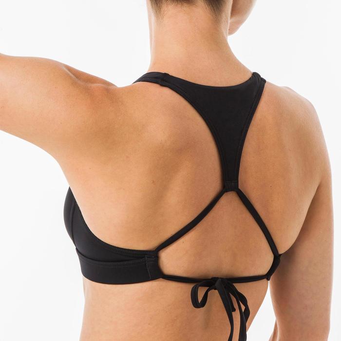 Haut de maillot de bain brassière de surf femme double réglable dos AGATHA NOIRE