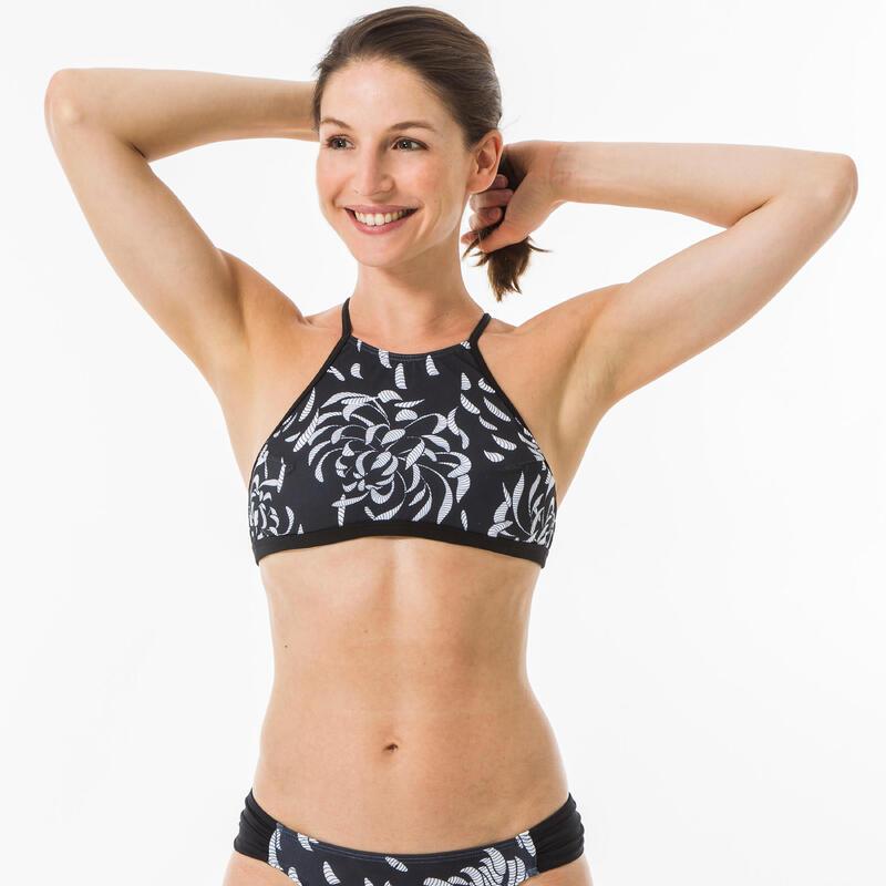 Haut de maillot de bain femme brassière de surf dos dégagé ANDREA AKARU