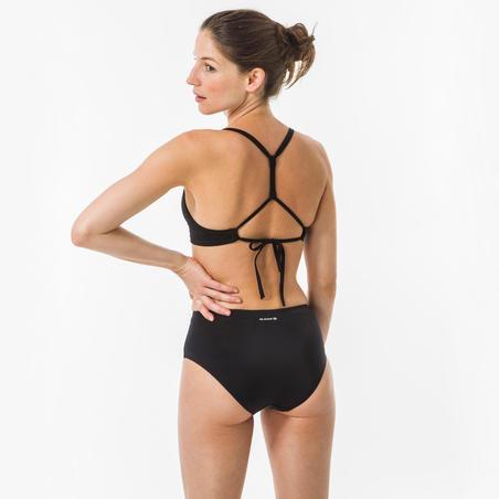 Bas de maillot de bain de surf taille haute Romi noir - Femmes