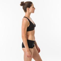 女款衝浪短版泳褲(附抽繩)Vaiana-棕櫚款