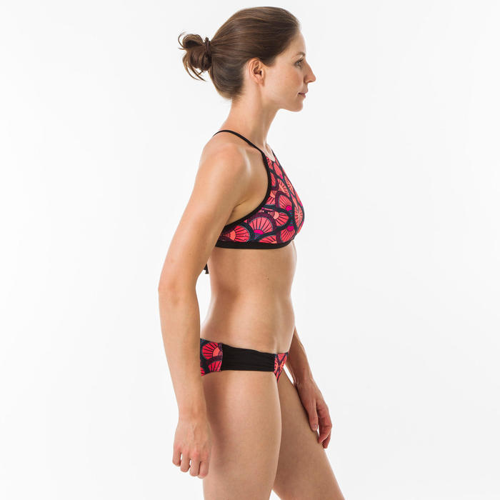 女款衝浪短版上衣(大挖背設計)ANDREA-花扇款