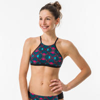 Brassier-top de bikini de surf Andrea Supai Zenith Mujer Top Espalda Abierta