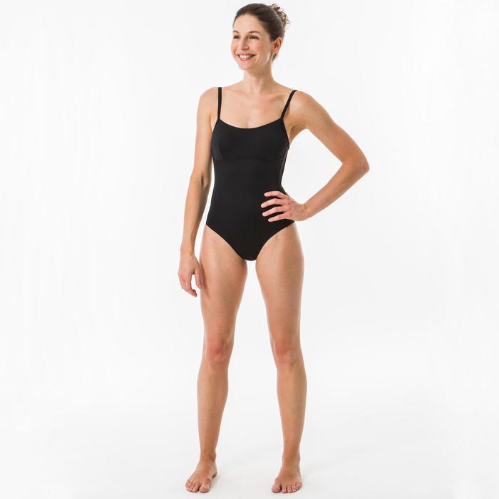 Badpak voor surfen Cloe zwart gekruiste of rechte bandjes