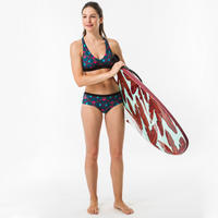 AGATHA SUPAI ZENITH Women's surf swimsuit crop top with adjustable back.
