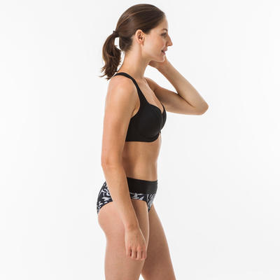 Parte superior bikini con varillas Surf Olaian MINIMIZER EDEN mujer NEGRO
