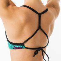 BEA KOGA MALDIVES Women's swimsuit crop top with adjustable back.