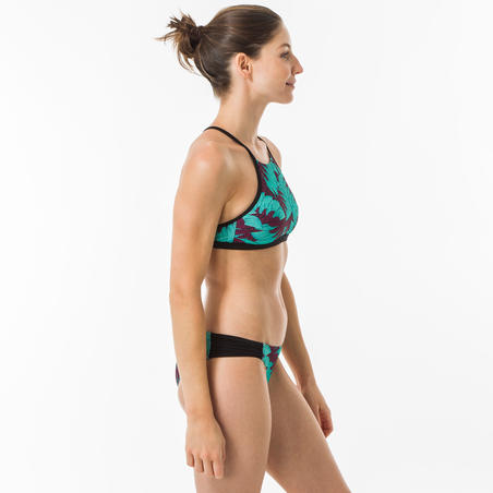 Women's Surfing Crop Top Swimsuit Top with open back ANDREA KOGA MALDIVES