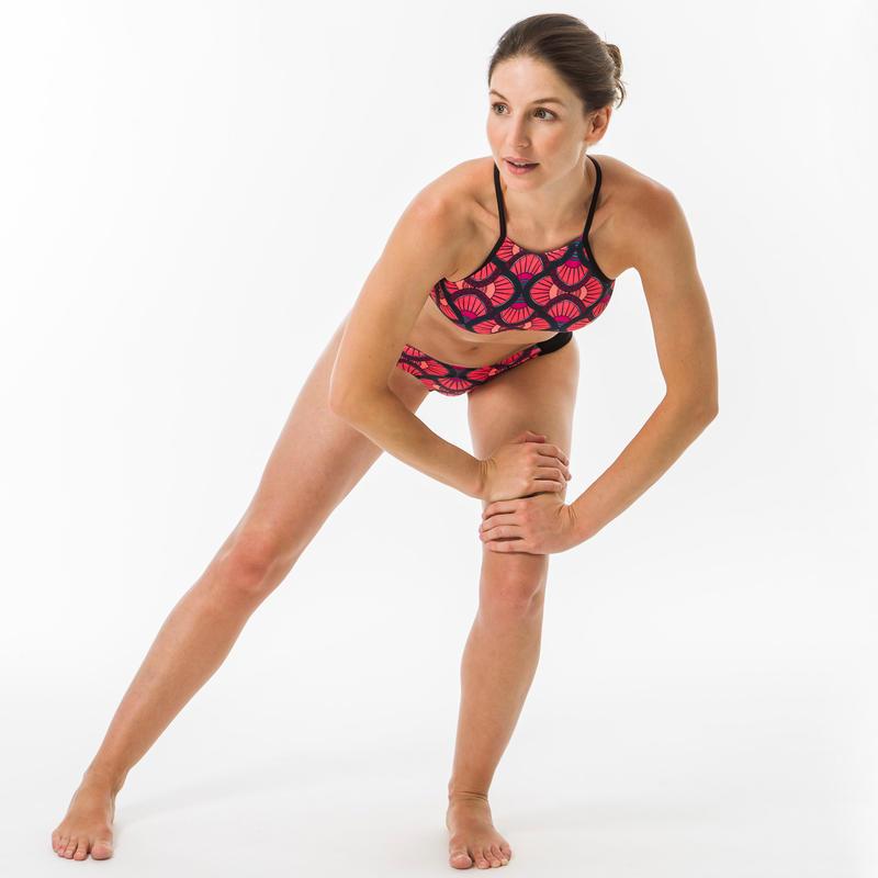 กางเกงว่ายน้ำเอวต่ำสำหรับผู้หญิงใส่โต้คลื่นรุ่น NIKI SUPAI DIVA