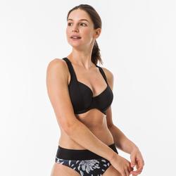 Top Bikini Surf Olaian Eden Minimizer Mujer Negro Aros
