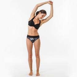 Bikinitop voor surfen Eden zwart minimizer met beugels