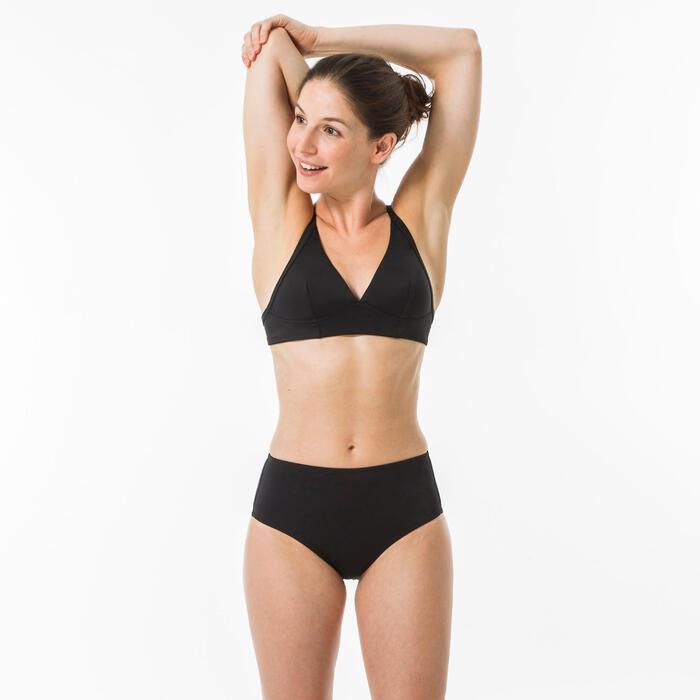 High waisted zwart bikini broekje Dames Romi