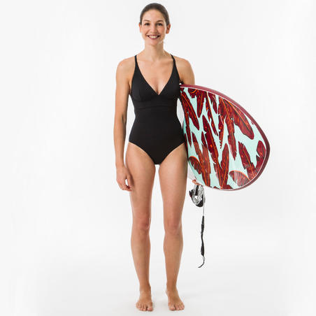 1-piece surf swimsuit with adjustable back BEA BLACK-Women's