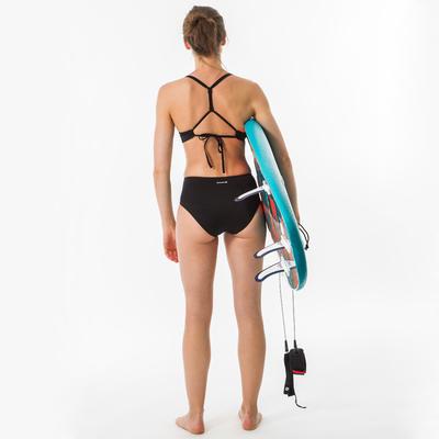 Bikini Calzón Talle Alto Surf Olaian ROMI Mujer Negro