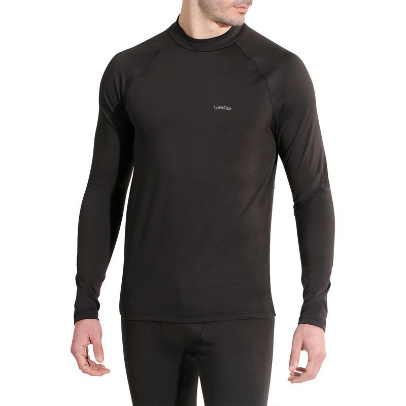 Camiseta Termica Ski y Nieve Wed'ze FW Interior Hombre Negro