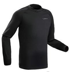 Camiseta termica Esquí y Nieve Wed'ze FW interior Hombre Negro