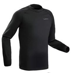 Thermoshirt heren ski Freshwarm zwart