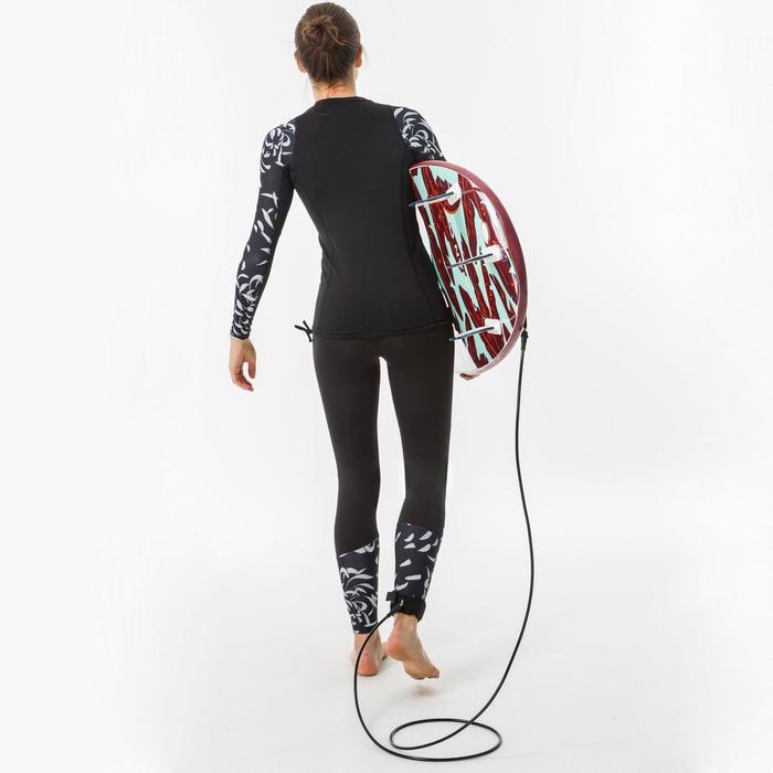 tee shirt anti uv surf top 500 manches longues femme AKARU