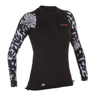 500 Women's Long Sleeve UV-Protection Surf Top T-Shirt AKARU