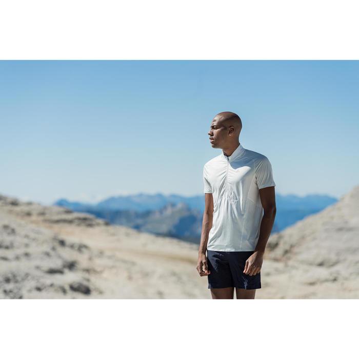 T-shirt manches courtes de randonnée rapide homme FH500 gris lune