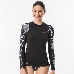 UV-Shirt langarm Surfen Top 500 Akaru Damen
