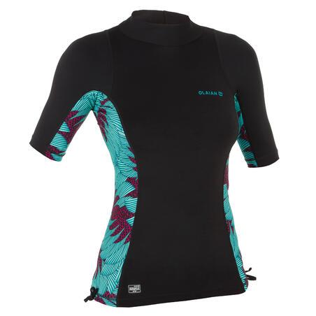 Atasan selancar anti UV lengan pendek T-shirt Wanita 500 KOGA MALDIVE