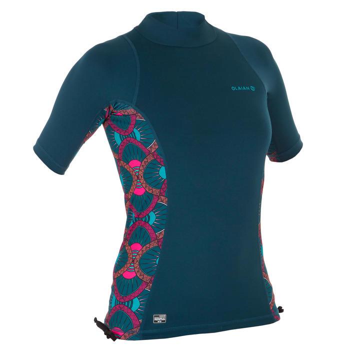 tee shirt anti uv surf top 500 manches courtes femme SUPAI ZENITH