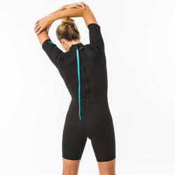 Shorty wetsuit dames 100 1,5 mm zwart
