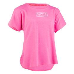 Soepel T-shirt voor moderne dans meisjes roze
