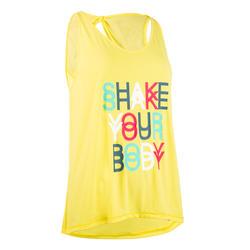 Damestopje dans-workouts geel