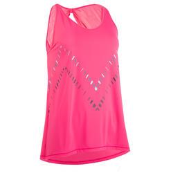 Damestopje voor dans-workouts roze