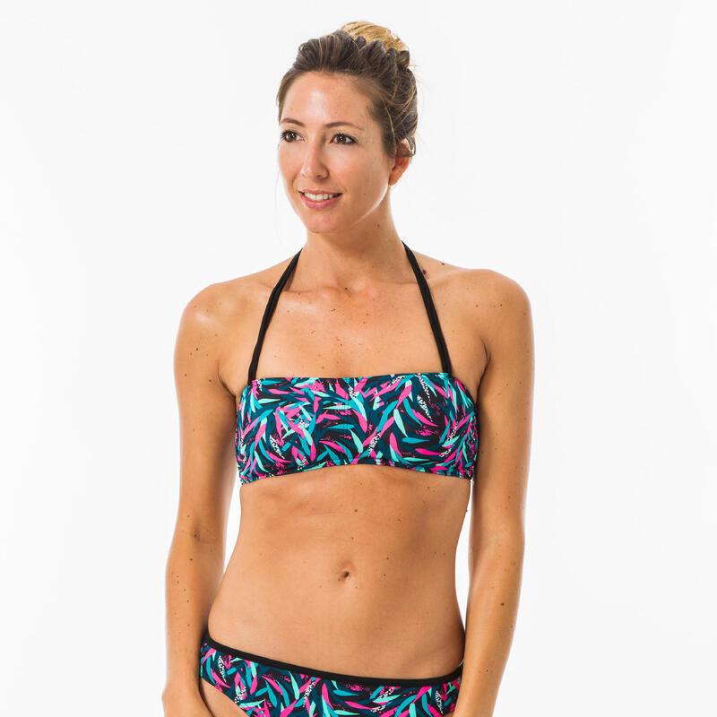 Bikinitop voor surfen Lori Tobi Maldive bandeau nekbandje uitneembare pads