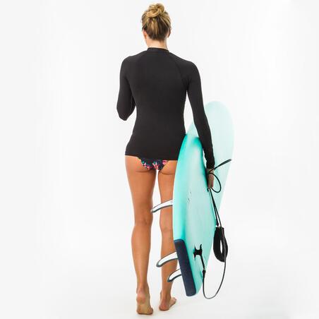 T-SHIRT anti-UV surf manches longues femme noir