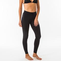 Leggings mit UV-Schutz Surfen 100 Damen schwarz