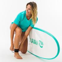 Playera Surf Mujer Protección Solar Olaian Turquesa