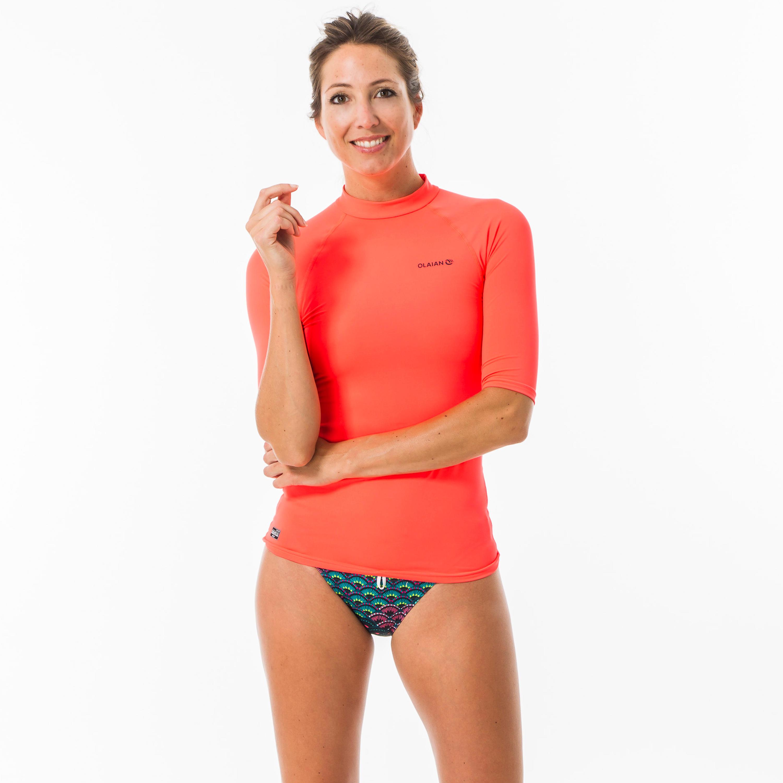 UV-Shirt Surfen Top 100 kurzarm Damen | Bekleidung > Bademode > Strandbekleidung | Olaian
