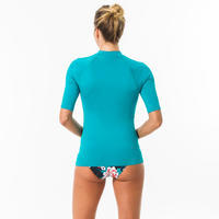 UVTOP100S Short Sleeve UV Protection Surfing Top T-Shirt Turquoise - Women's