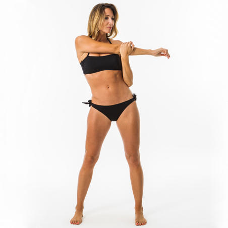 Bandeau Swimsuit Top LAURA BLACK with Removable Padded Cups