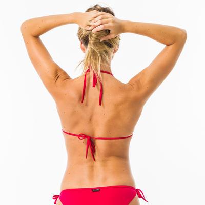 Bikini Parte superior triángulo Surf Olaian Mae Mujer Rojo