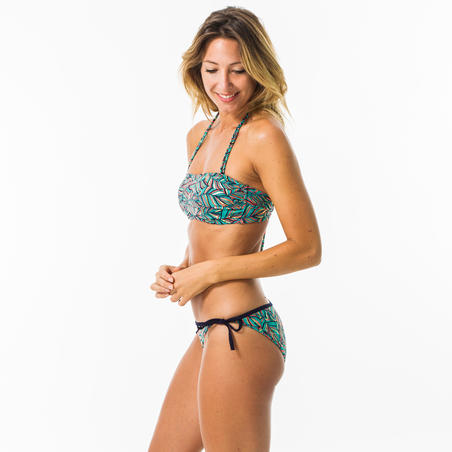 Bandeau swimsuit top LAURA FOLY with removable padded cups