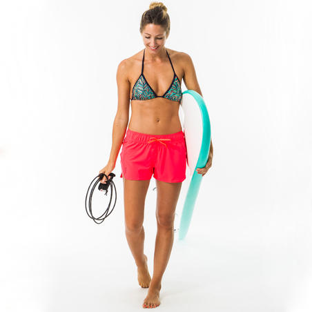 Women's boardshorts with elastic waistband and drawstring TINI CORAIL