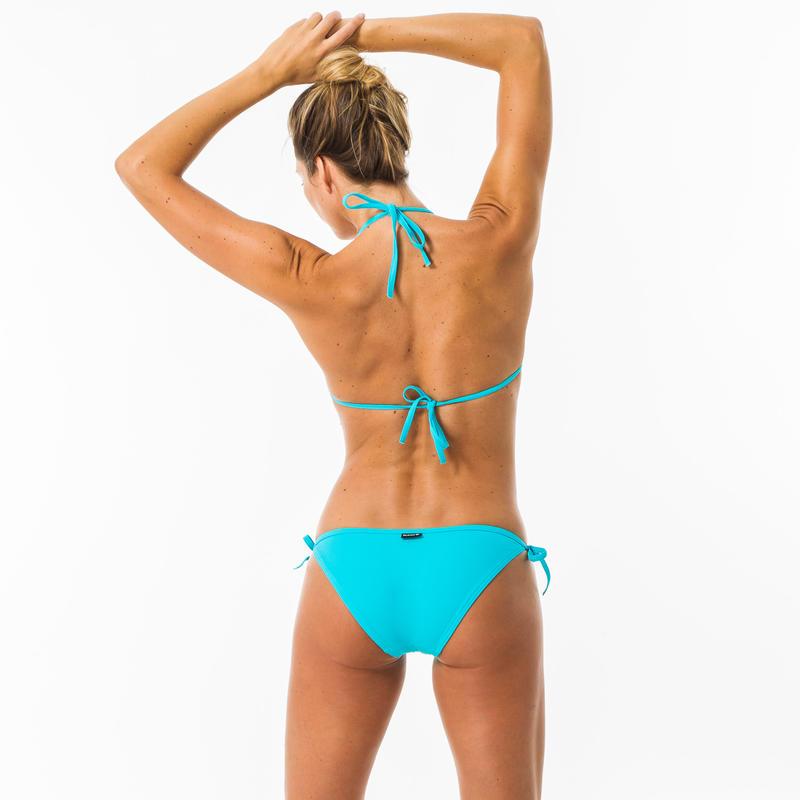 Haut de maillot de bain femme triangle coulissant MAE TURQUOISE
